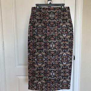 Zara batik midi skirt